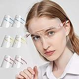 Pantalla Protección Facial Transparente, Face Shield Visor Set con 12 Viseras...