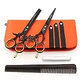 CANDURE® - 5.5' tijeras de peluquería profesional - Deep Negro - tijeras de...