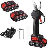 Siebwin 48VF - Tijeras de podar eléctricas, tijeras de podar a batería, para...