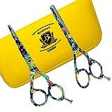 BeautyTrack estuche 5.5'(13,7 cm) y tijeras para entresacar barbero peluquería...