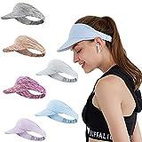 Ultralight Visera Visor Gorras Mujer Hombre Sombreros para el Sol Protección UV...