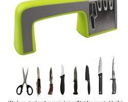 Afilador de Cuchillos de Cocina y Tijeras, Sistema Portátil de 4 Niveles de Afilado