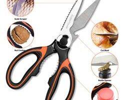 EatekPower Tijeras Cocina, Heavy Duty Scissors Tijeras de Cocina Multiuso de Acero Inoxidable con Hoja Afilada