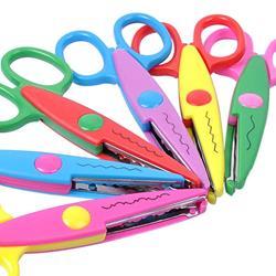 UCEC® Set de 6 Tijeras Coloridas Decorativas, Tijeras Dentadas de Diferentes Diseños Para Manualidades